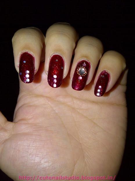 cute nails indian bridal nail