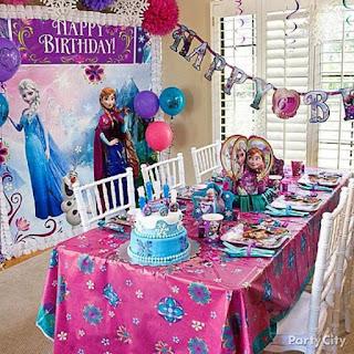 Dekorasi Ulang Tahun Anak Sederhana Tema Frozen