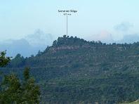 El Serrat de l'Àliga des de la pujada al Turó de Santa Àgata