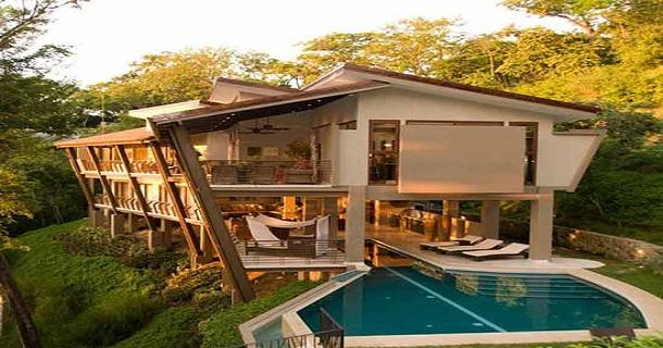 Gambar Desain Villa Artistik Model Rumah Sederhana