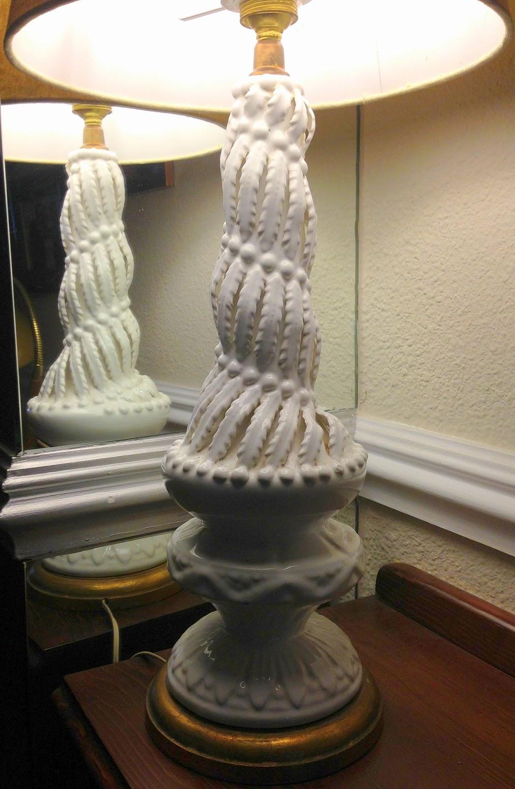 Vintage kitsch siglo xx lampara de ceramica de manises - Lamparas de pie clasicas ...