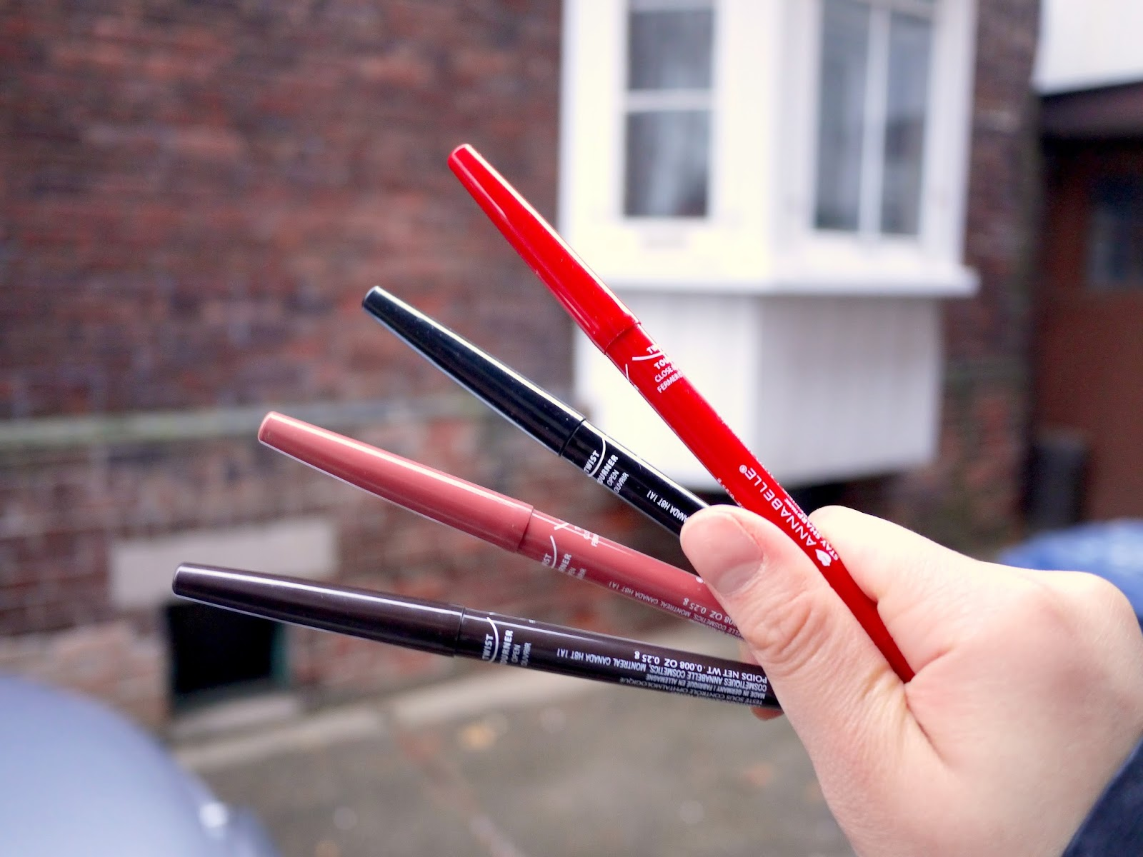 Annabelle Stay Sharp Waterproof liners java go black cappucino glam red review swatch