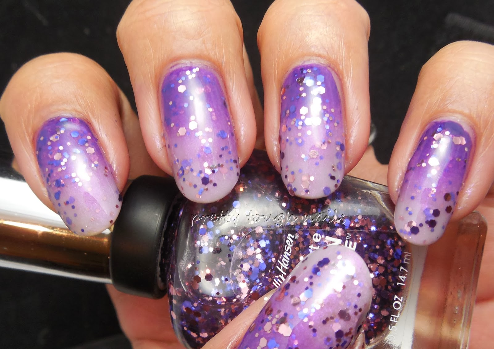 Sally Hansen Fa-la-la Lavender Over Gradient