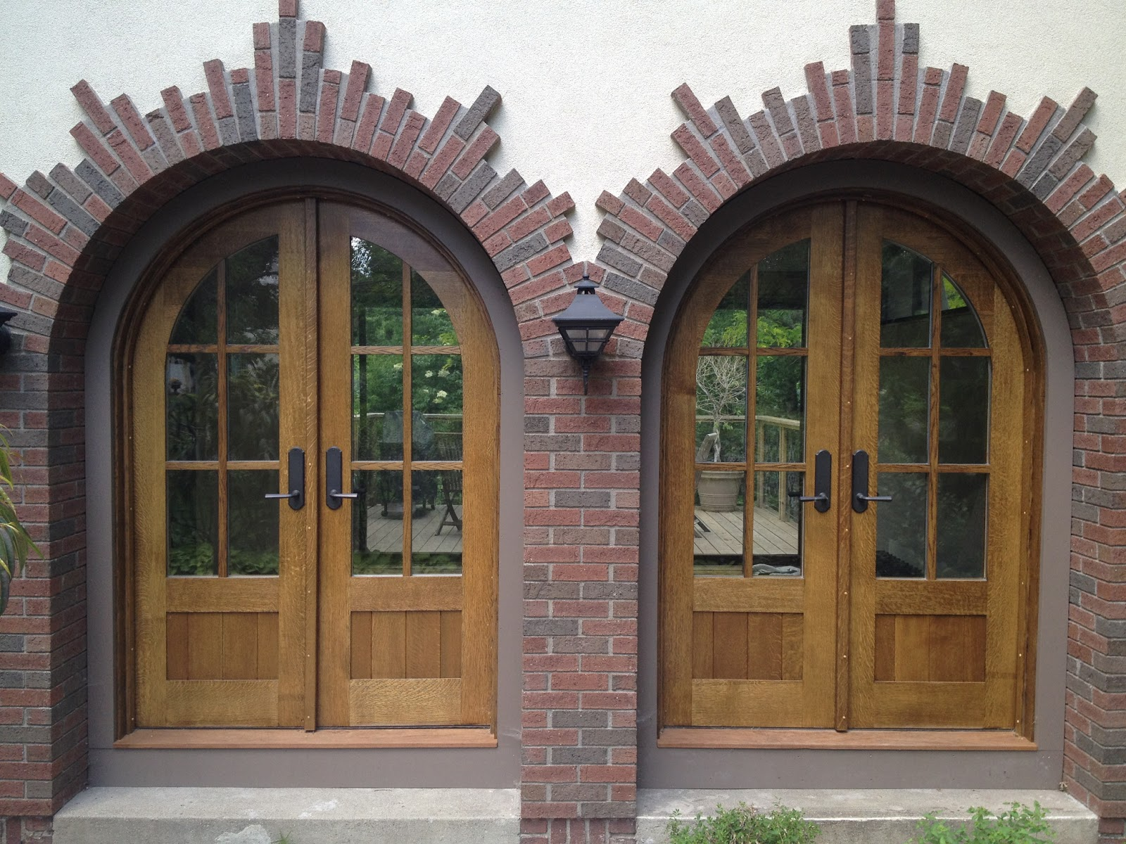 Projects progress thoughts stuff custom made arched for Entry door with built in screen
