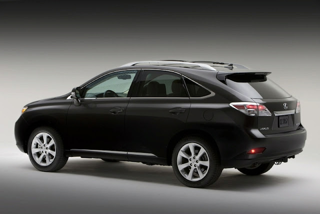 Rear 3/4 view of 2011 Lexus RX350