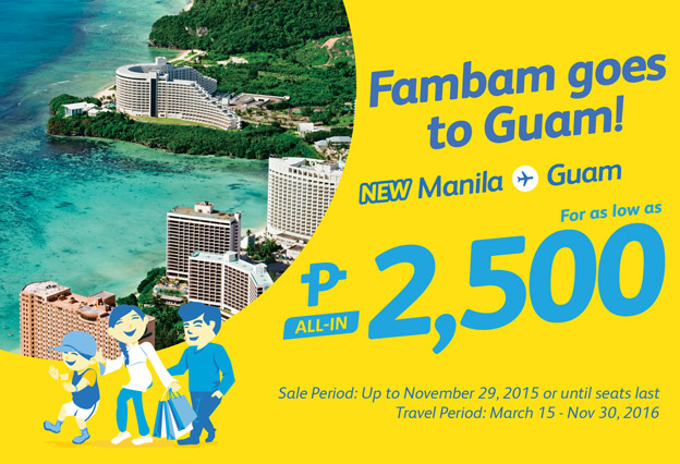 Cebu Pacific Manila to Guam 2016