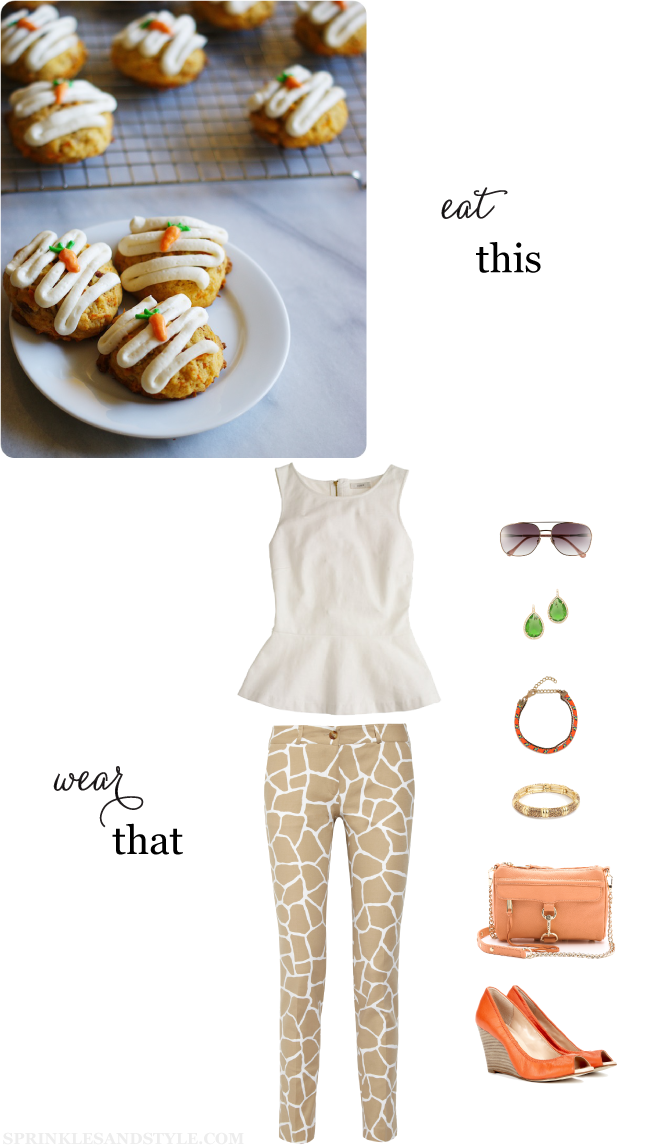 Sprinkles and Style: Carrot Cake Cookies and Outfit