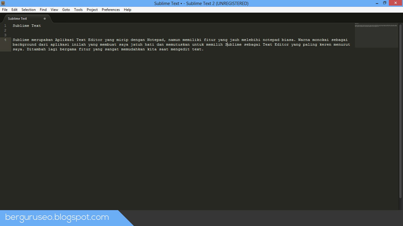 Aplikasi Laptop Sublime Text