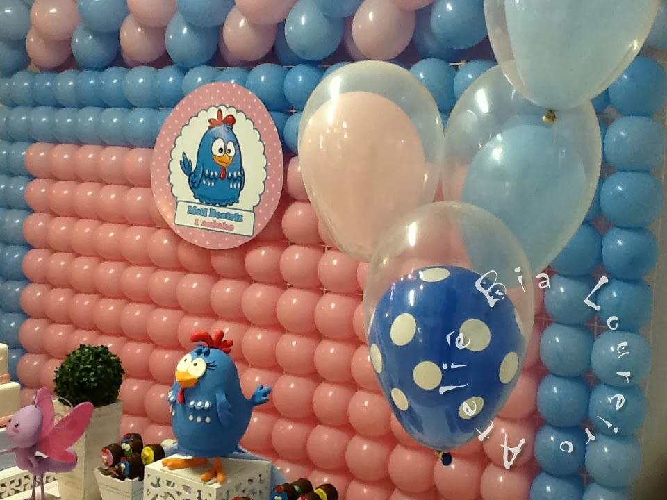 decoracao galinha pintadinha azul e amarelo:Mesa provençal – Festa Galinha Pintadinha- Rosa e azul