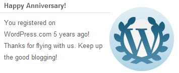 5 Years WordPress