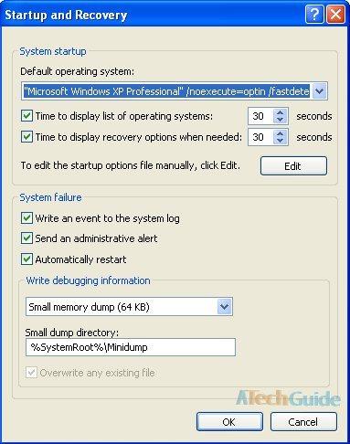 delete dual boot windows xp