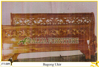 Tempat tidur kayu jati ukir jepara Bagong Ukir murah.Jakarta