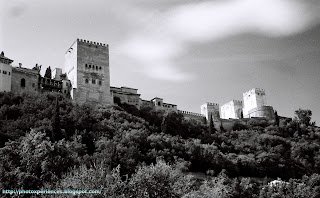 Torres y muralla de la Alhambra. Towers and defensive walls of the Alhambra. Granada. Spain.