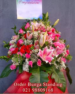 toko bunga standing flowers bagus dan murah, bunga ucapan congratulations, toko bunga