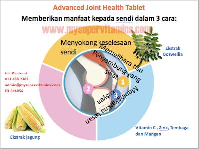 Penawar sakit sendi dengan advanced joint health shaklee