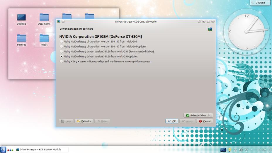 Kubuntu 14.04 LTS driver manager