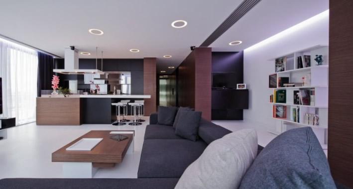 Casas minimalistas y modernas apartamento del estudio for Apartamentos minimalistas