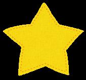 布のマークのイラスト「星」