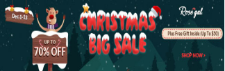 Rosegal Christmas Big Sale