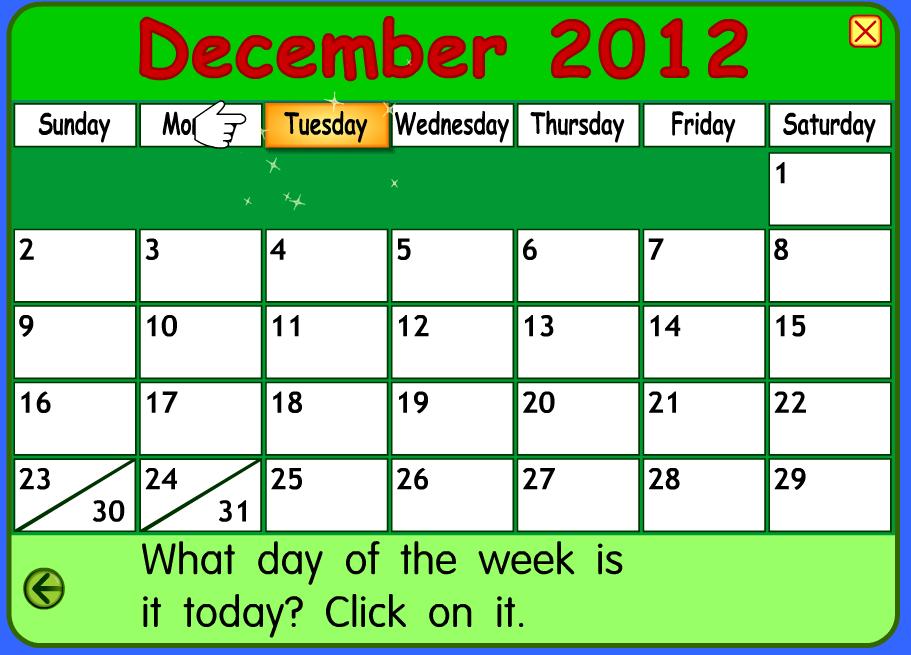 Calendar Q : Kindergarten schmindergarten december