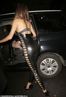 Nicole Scherzinger Sexy Ass in Black PVC Catsuit