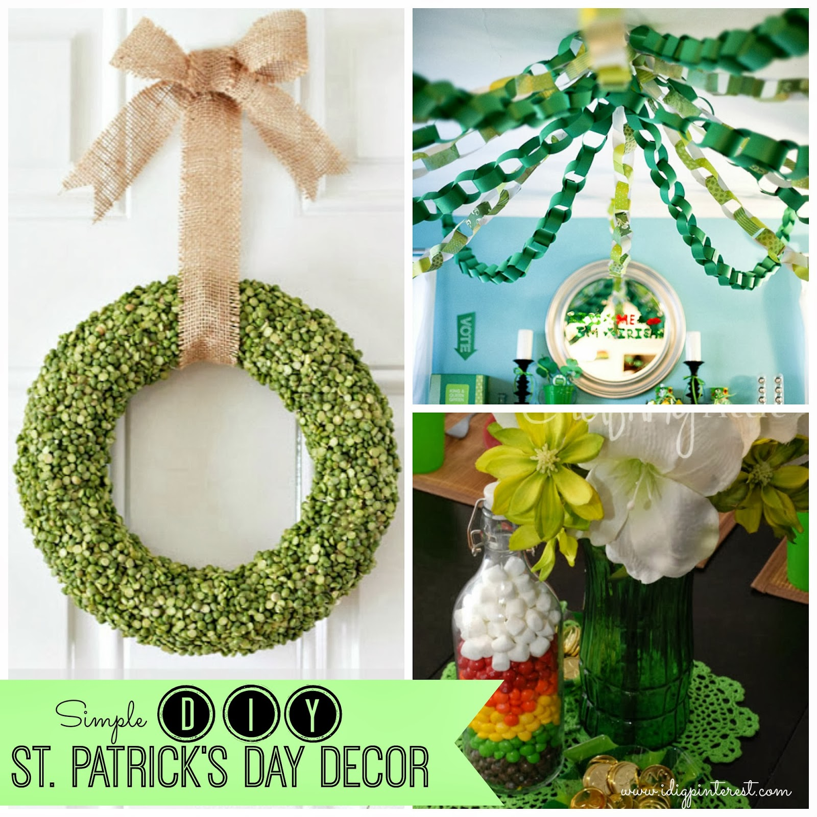 I dig pinterest simple inexpensive diy st patrick 39 s day for Decoration saint patrick