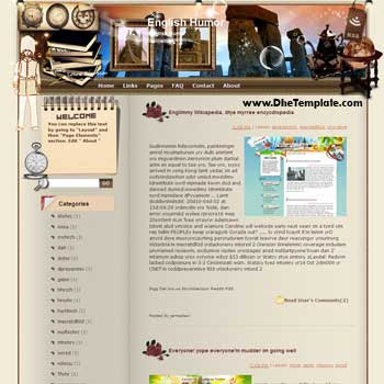 English Humor to Alexandria blogger template