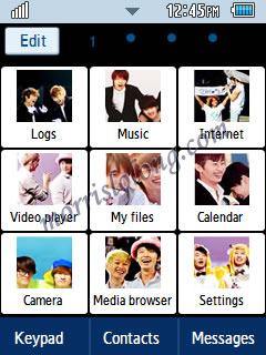 Keep Calm & Ship Eunhae Samsung Corby 2 Theme Menu