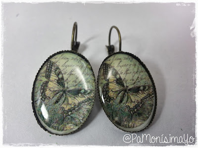 Pendientes camafeo mariposa vintage @pamonisimayo Monerías