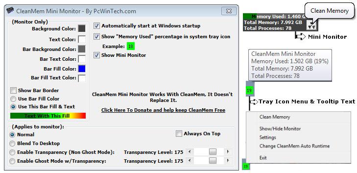 CleanMem 2.1.1 لتنظيف الذاكرة بهدف
