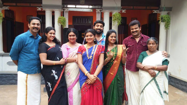 Actors and actresses of Moonumani Serial - Ajayan Joseph, Meera Krishna, Kalaranjini, Sreelaya, Niranjan , Preetha, Santhosh and Sethulekshmi