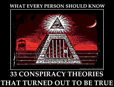 33 CONSPIRACY THEORIES THAT TURNED OUT TO BE TRUE, WHAT EVERY PERSON SHOULD KNOW