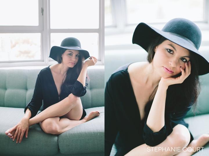modern boho boudoir photos