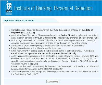 IBPS online application image 3