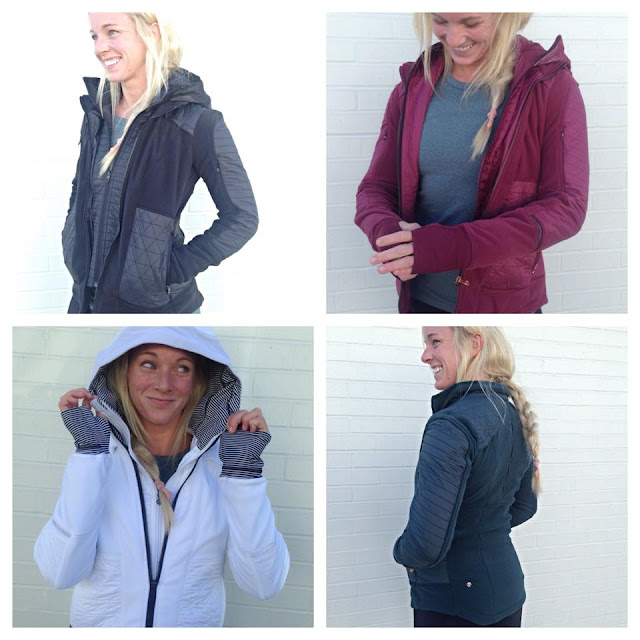 lululemon fleecy-keen-jacket wine-berry-black