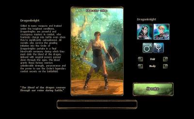Drakensang Online - Character Create 1