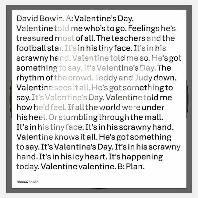 David Bowie - Valentine's Day
