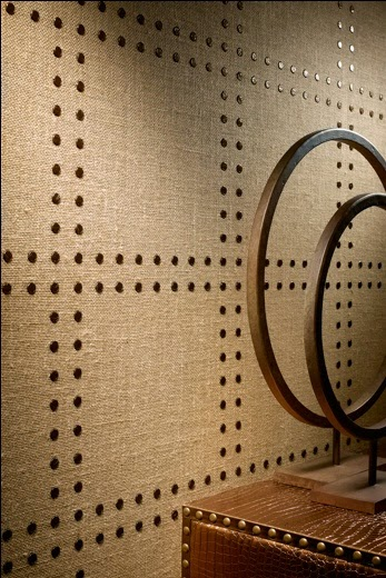 Eye For Design: Decorate Your Walls With Nailheads And Rivets.