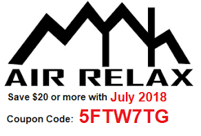 Air Relax July 2018 Coupon Code