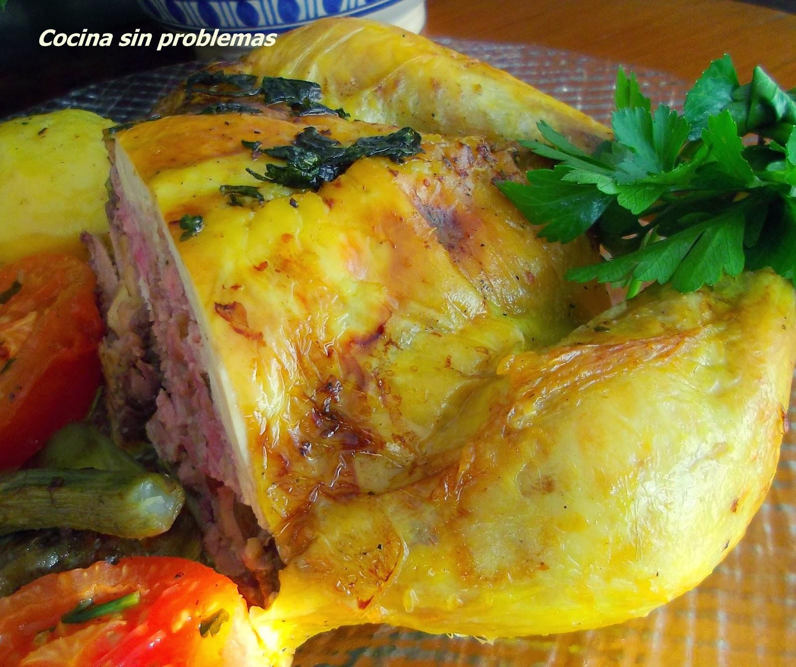 Como Cocinar Pollo Relleno Al Horno | Cocina Sin Problemas Pollo Relleno Al Horno