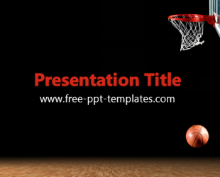 basketball ppt template free powerpoint templates. Black Bedroom Furniture Sets. Home Design Ideas
