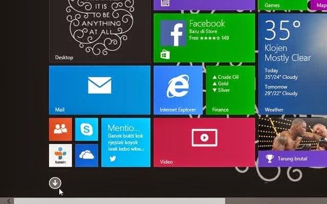 Cara Untuk Melihat Daftar Aplikasi Desktop atau Moderen di Windows 8.1