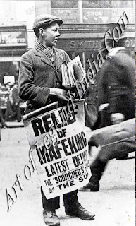 Mifeking relieved The defence of Mafeking besieged by the Boers from 12 October 1899 to 17 May 1900 became a symbol of Britain's struggle against the Boers. Crowds celebrated in the streets when news reached London that the isolated garrison had finally been relieved.
