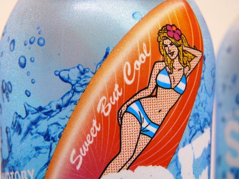 Suntory Surf Mode Soda Crazy from Kong surfer babe