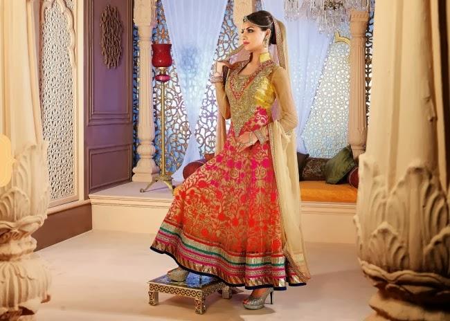 Ready Made Long Fancy Anarkali Churidar Shalwar-Kameez Suits 2014 ...