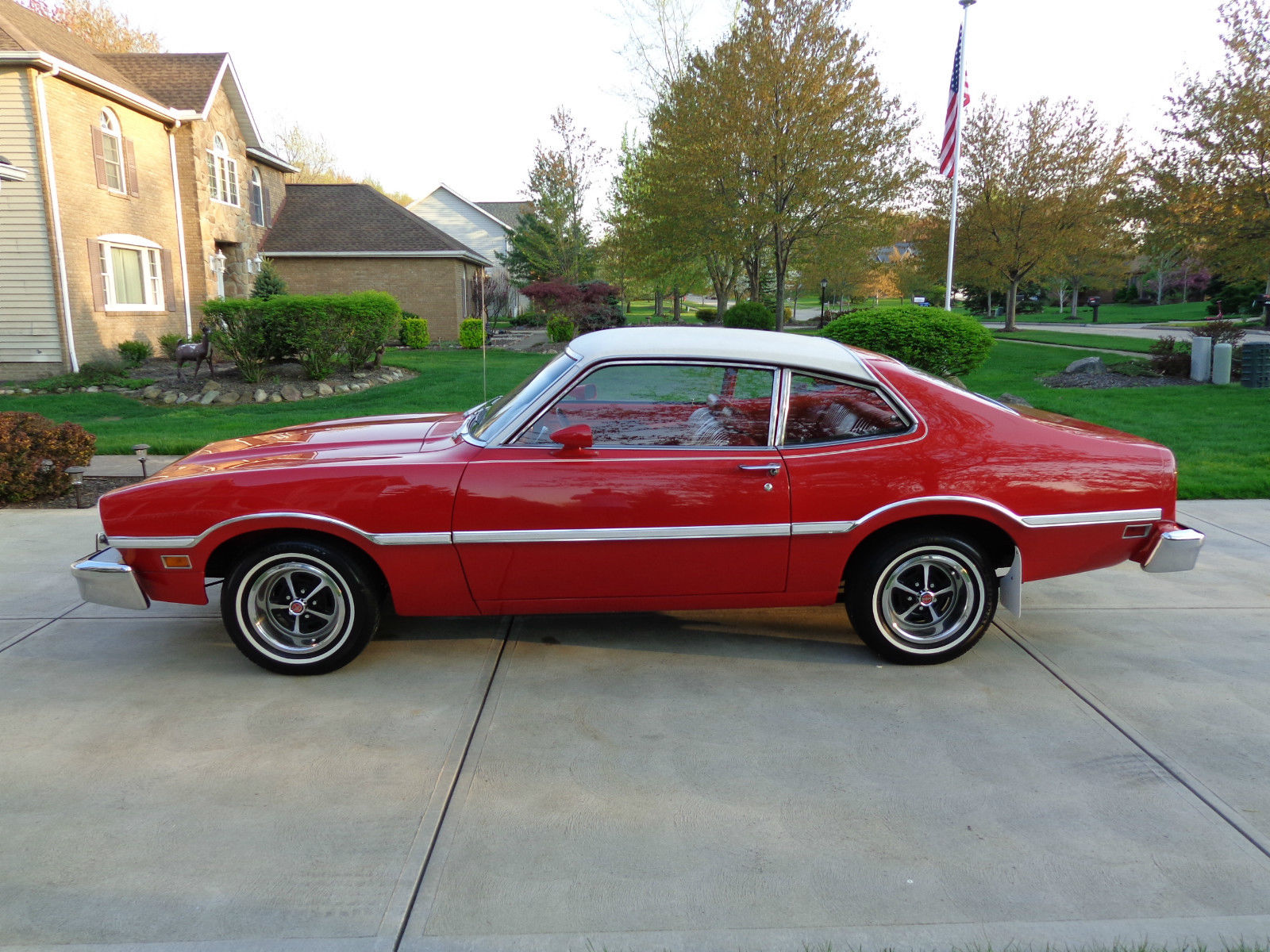 All american classic cars 1977 ford maverick 2 door coupe for Door 2 door cars