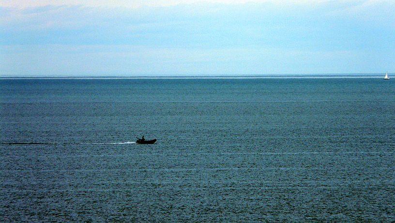 La playa de Sopelana sin olas