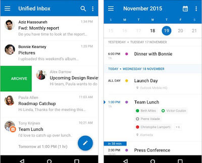 outlook para android correo y calendario