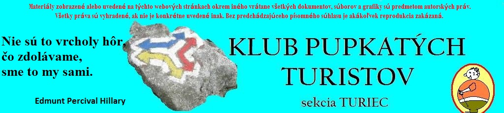 Klub pupkatých turistov sekcia TURIEC