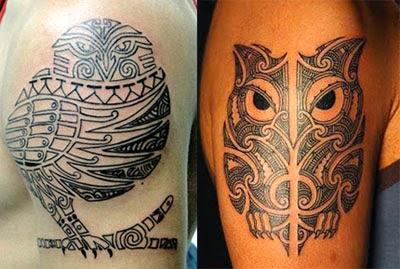 Melhores tatuagens de coruja maori e tribal